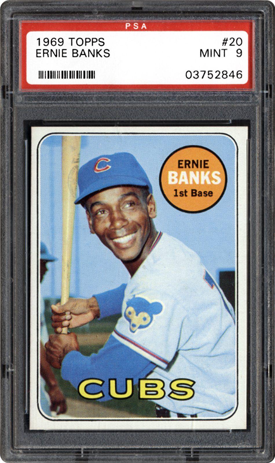1969 topps ernie banks ernie banks baseball cards cubs