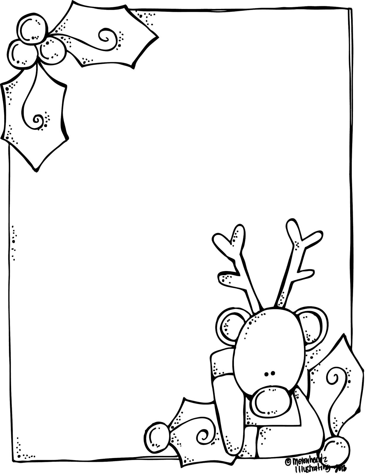 MelonHeadz A blank Rudolph letter form for Santa And its FREE