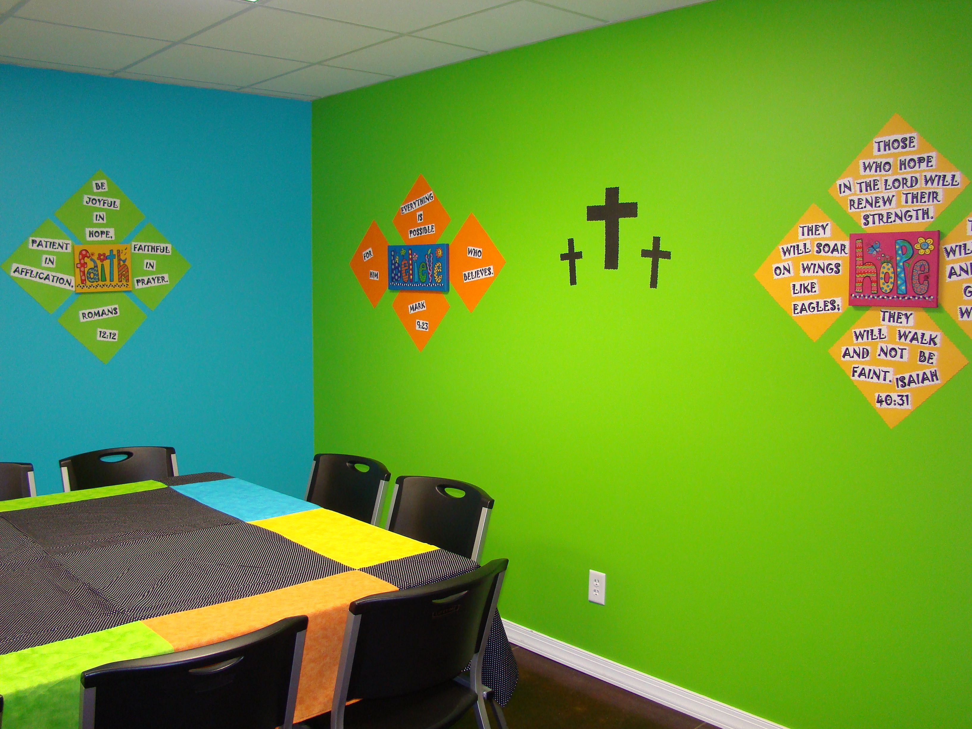 Pre-Teen Sunday School Class - Bright Colors with Scripture on the ...