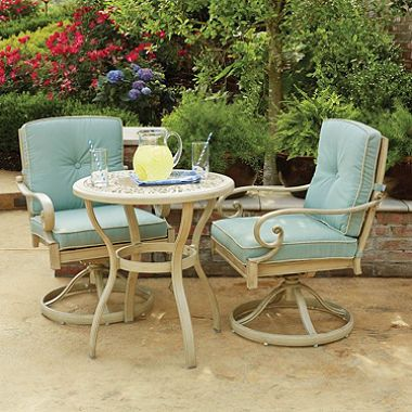 Member S Mark Lynden Hills 3 Piece Bistro Set Patio Furniture Sets Patio Furnishings Outdoor Patio Furniture Sets