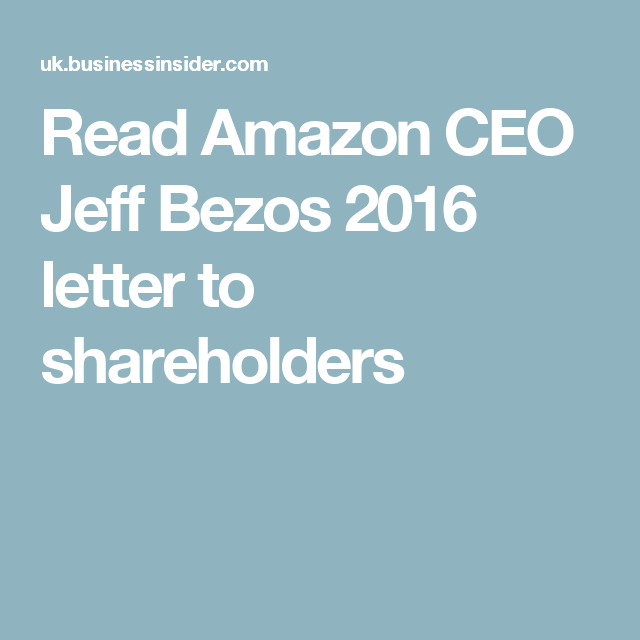 Amazon s Jeff Bezos constantly reminds his workers about the