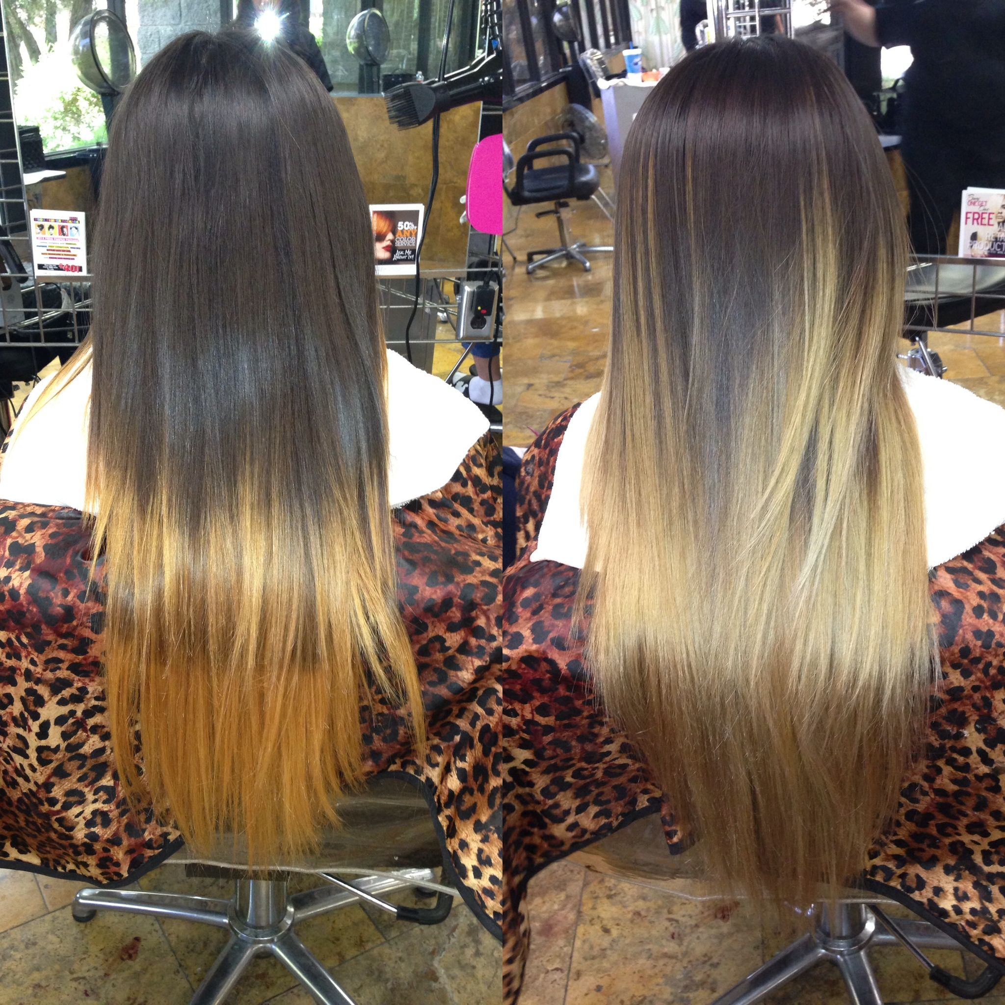 Ombre Color Correction Yellow Orange Patchy Blonde To Blended