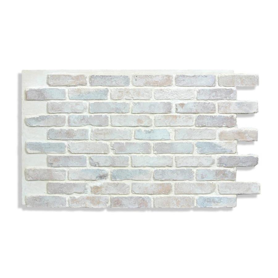 Antico Elements Faux Brick Panels Cotton 47 5 In X 27 25 In Panel Brick Veneer Ant 2848 Ct Faux Brick Panels Faux Brick Wall Panels Brick Wall Paneling