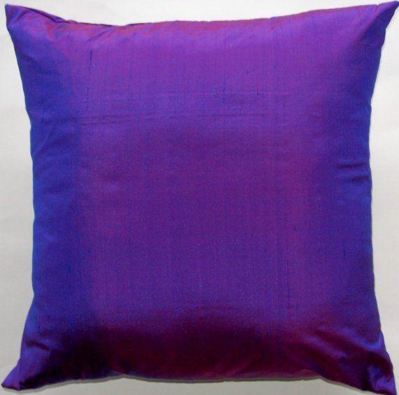 Decorative Pillow Cover Violet Purple Throw Silk Cushion 18 X