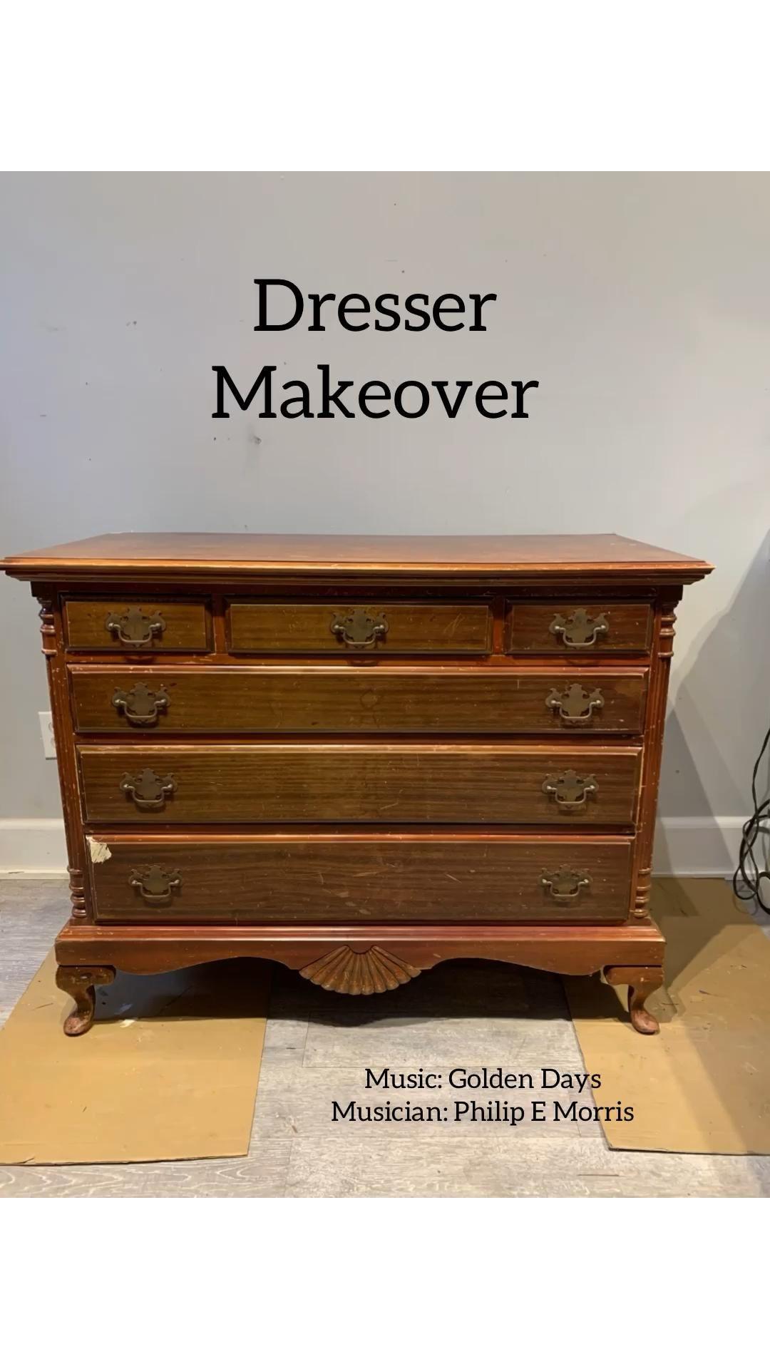 Vintage Dresser Makeover using Shackteau Interiors Milk Paint