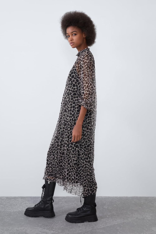 Desenli Tul Elbise Zara Turkiye Elbise Zara Kimonolar