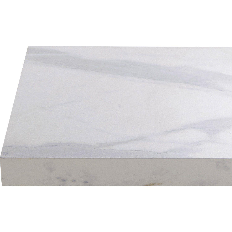 Plan De Travail Stratifie Effet Marbre Blanc Mat L 315 X P 65 Cm Ep 38 Mm Marbre Blanc Plan De Travail Stratifie Plan De Travail