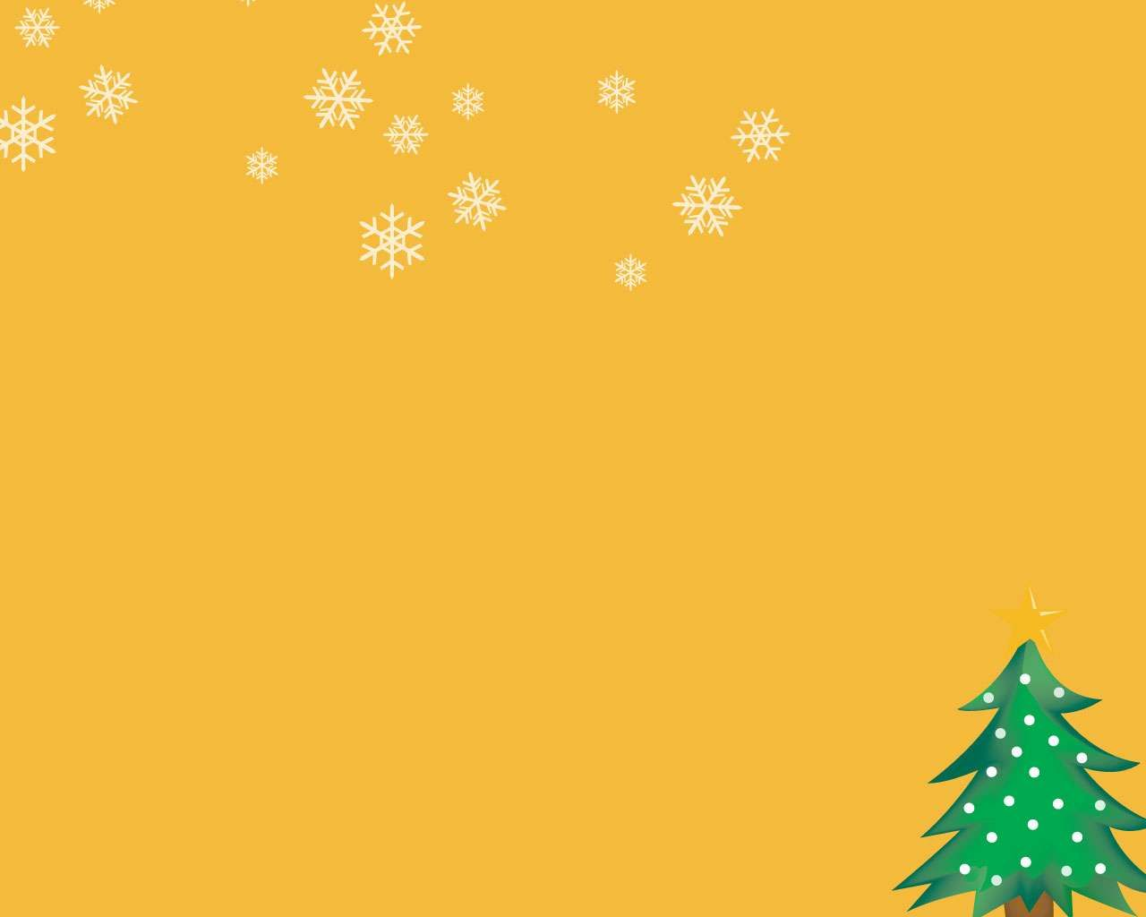 powerpoint christmas background | Christmas tree orange Free PPT ...