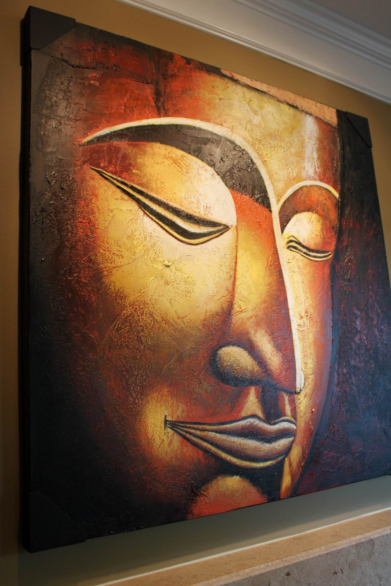 Nirvana Oversized Buddha Painting Buddhism Art Art