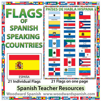 Flags of the 21 Spanish-speaking countries.These flags are perfect ...