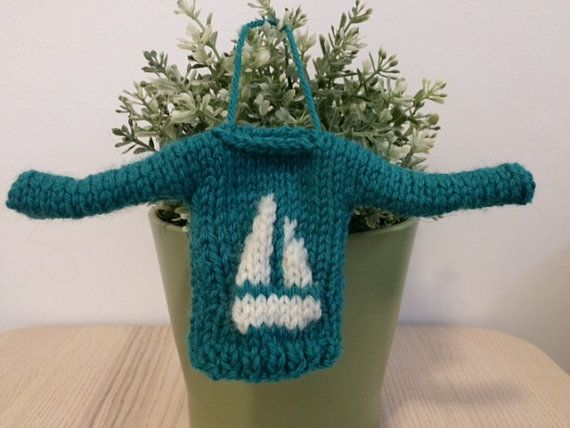Mini Sweater Sail Away With Me by SeasickKnits on Etsy