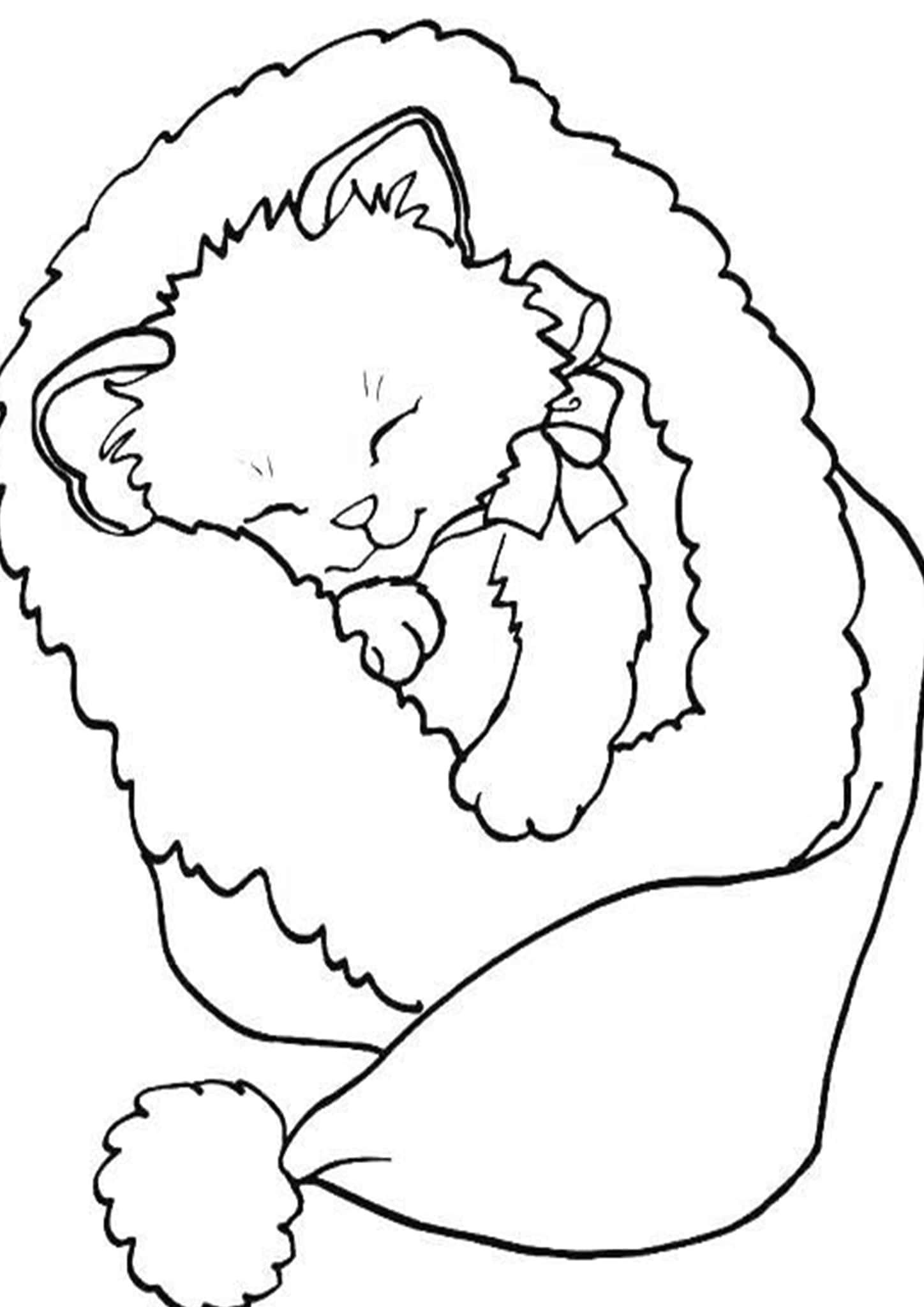 Free Easy To Print Baby Animal Coloring Pages Puppy Coloring Pages Printable Christmas Coloring Pages Cat Coloring Page