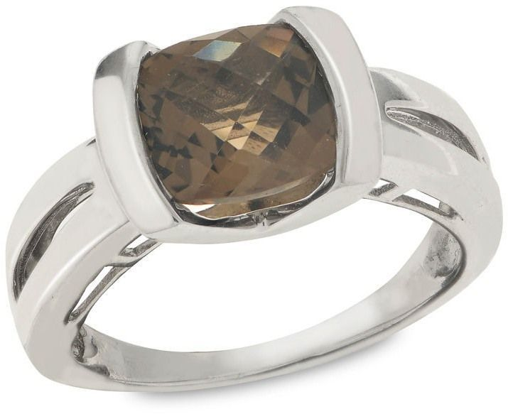 Zales 8.0mm Cushion-Cut Onyx Ring in Sterling Silver q6bseQ