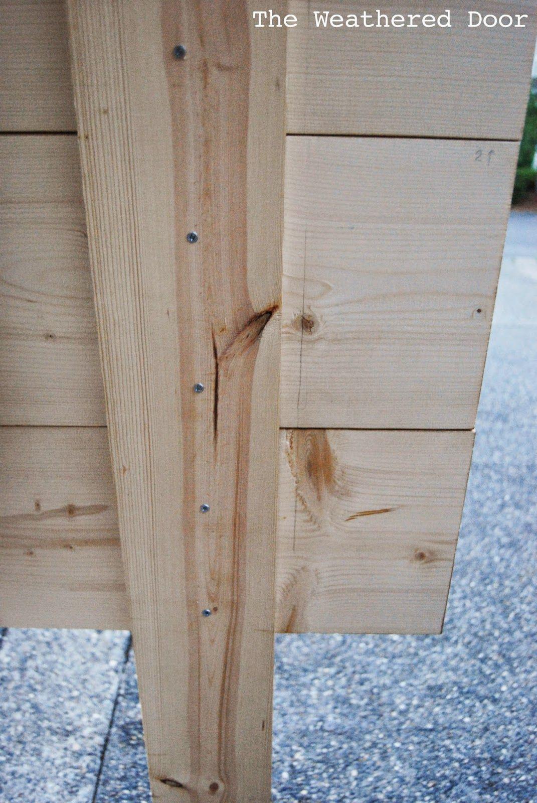DIY Geometric Planked Wood Headboard Tutorial (for under $100) – The Weathered Door