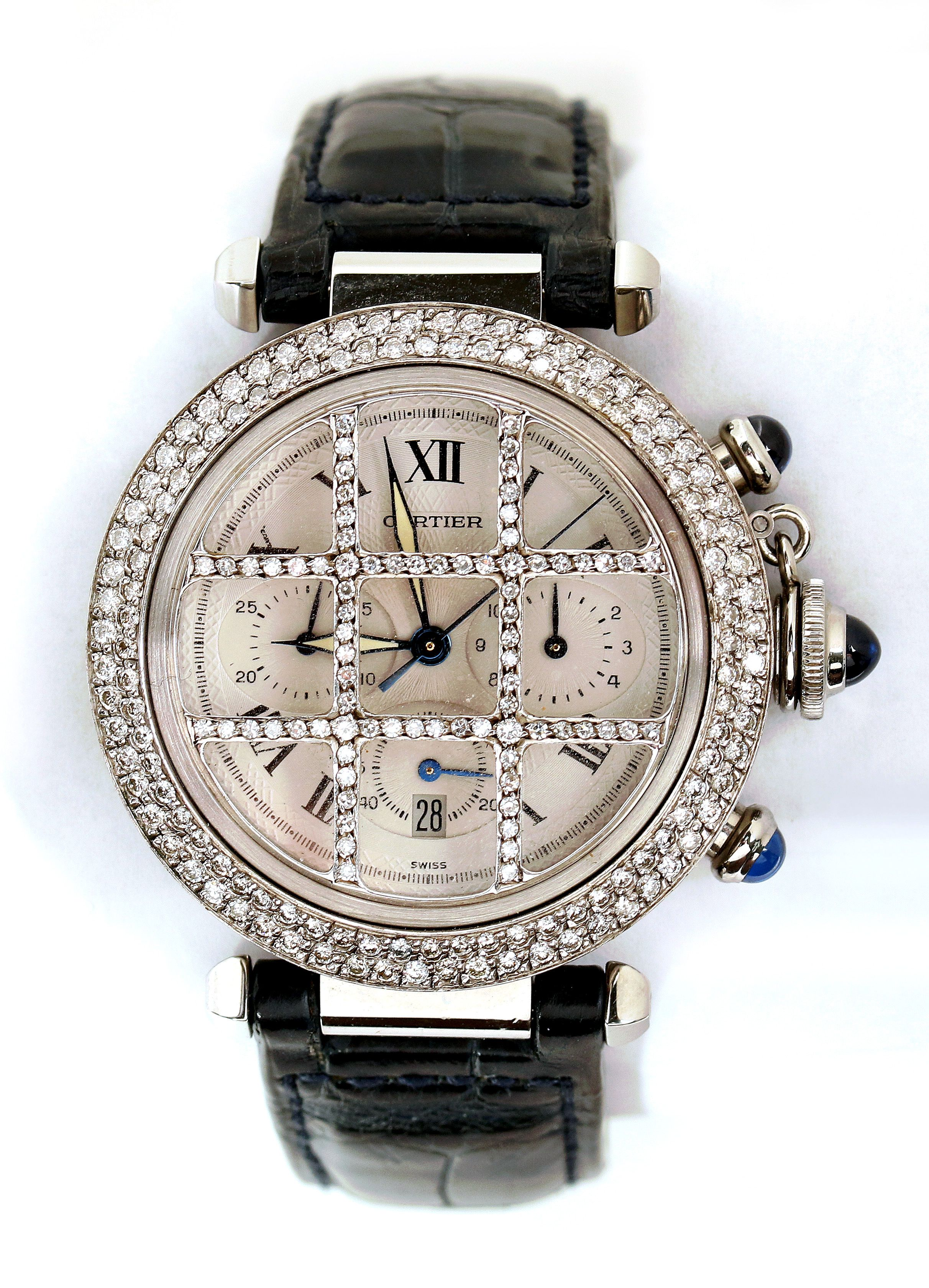 online automatic watches cartier spring christies ref s eco christie pasha chronograph time