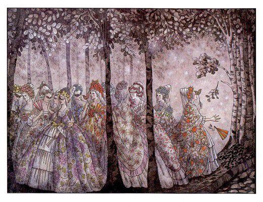 Twelve dancing princesses.