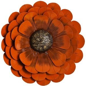 Beau Orange Flower Metal Wall Decor   Polyvore