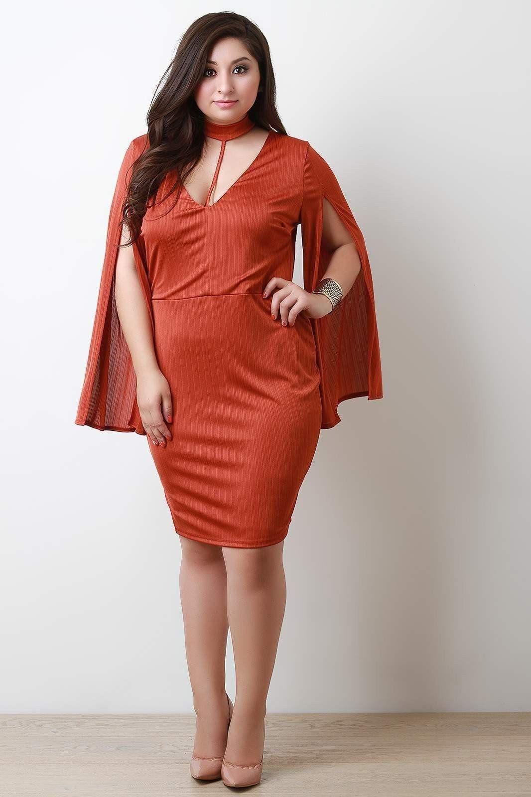 Split long sleeve deep v collared dress products pinterest