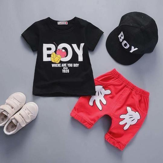 Maylife Kids Baby Toddler Boys Short Sleeve Summer Causal T-Shirt Tops Drawstring Pocket Jean Pants Outfits Set
