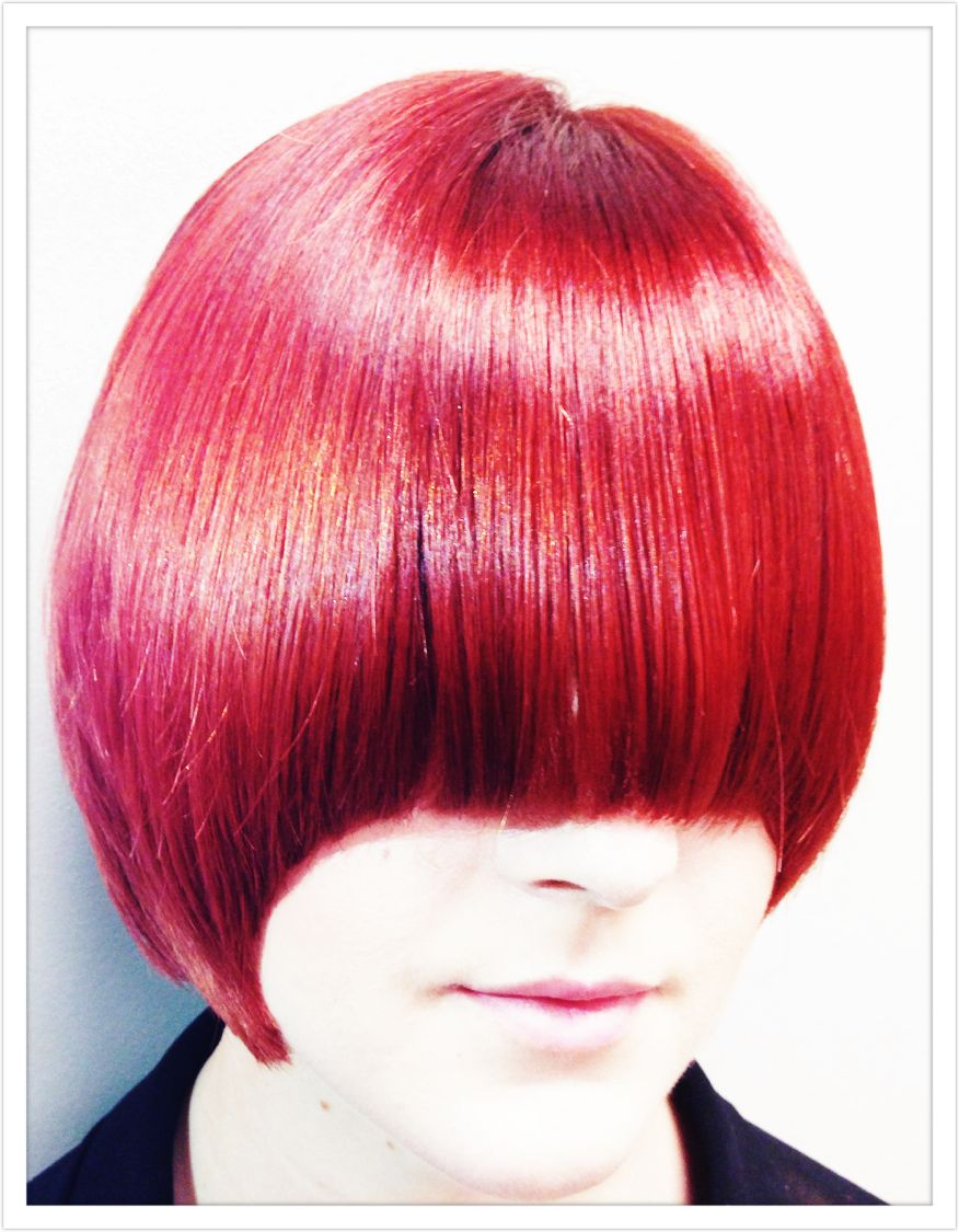Hair by Basil. Red enough. Not the real color. I added a little post production'ism