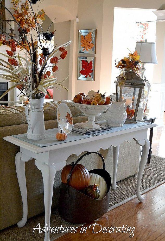 Tis Autumn Living Room Fall Decor Ideas: A Simple And Free Fall Vignette, Seasonal Holiday D Cor, I
