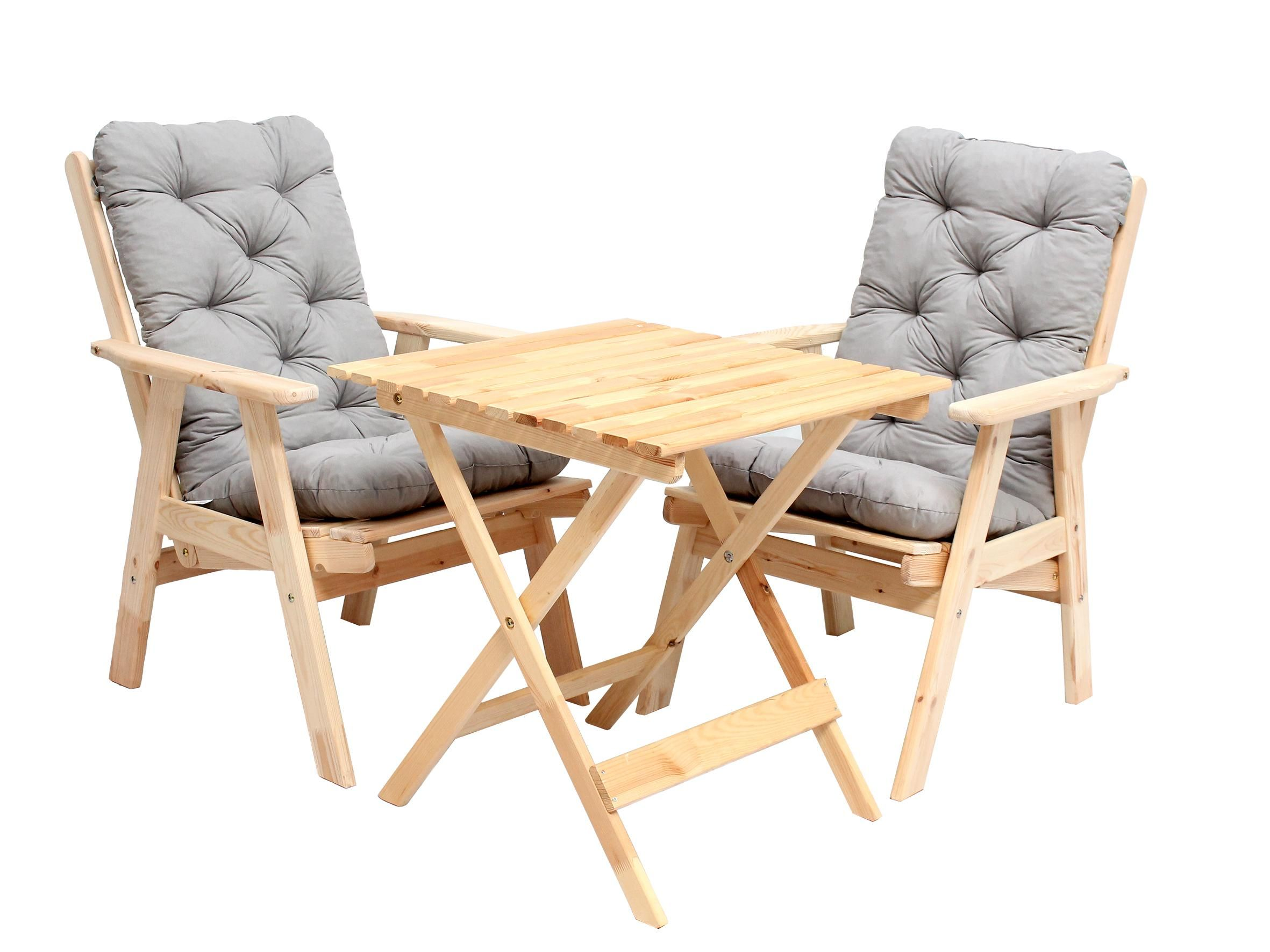 Ikea relaxsessel auflage  Ambientehome 90492 Balkonset verstellbarer Hochlehner Stuhl Varberg ...