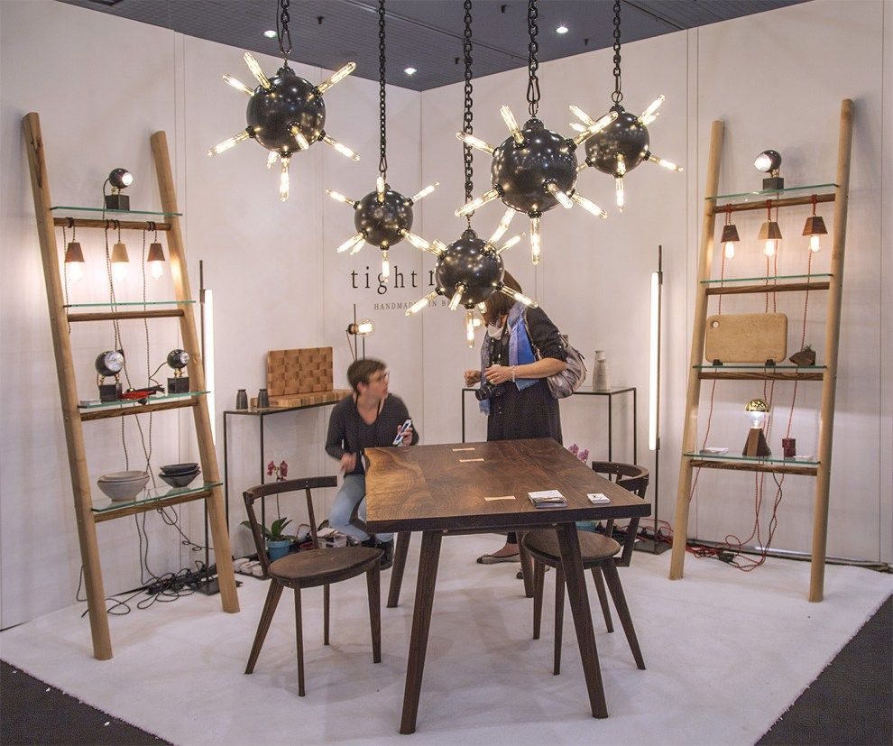 Tightrope nyc is a brooklyn based furniture and lighting company they showed fun mine lights icff icff2016 icff nyc icffny furniture customfurniture
