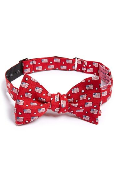 Vineyard Vines Flag Print Silk Bow Tie available at #Nordstrom