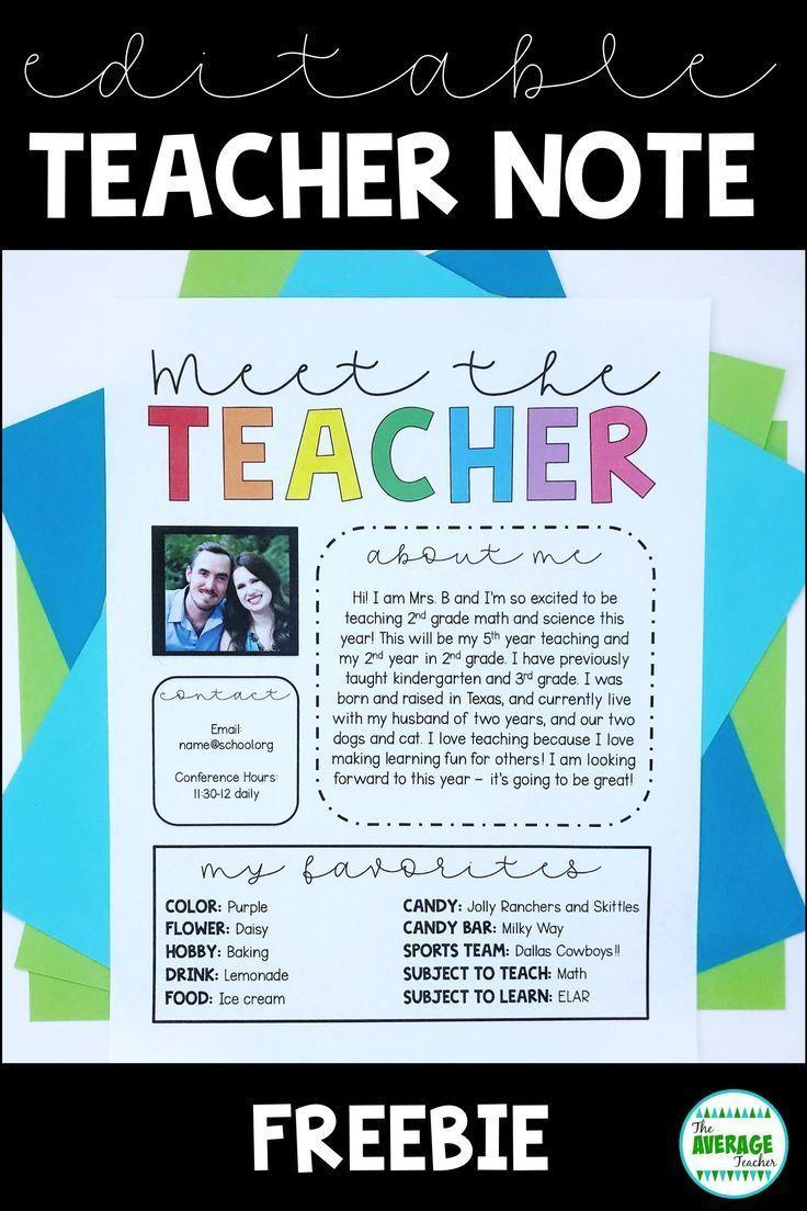 Meet The Teacher Template Free
