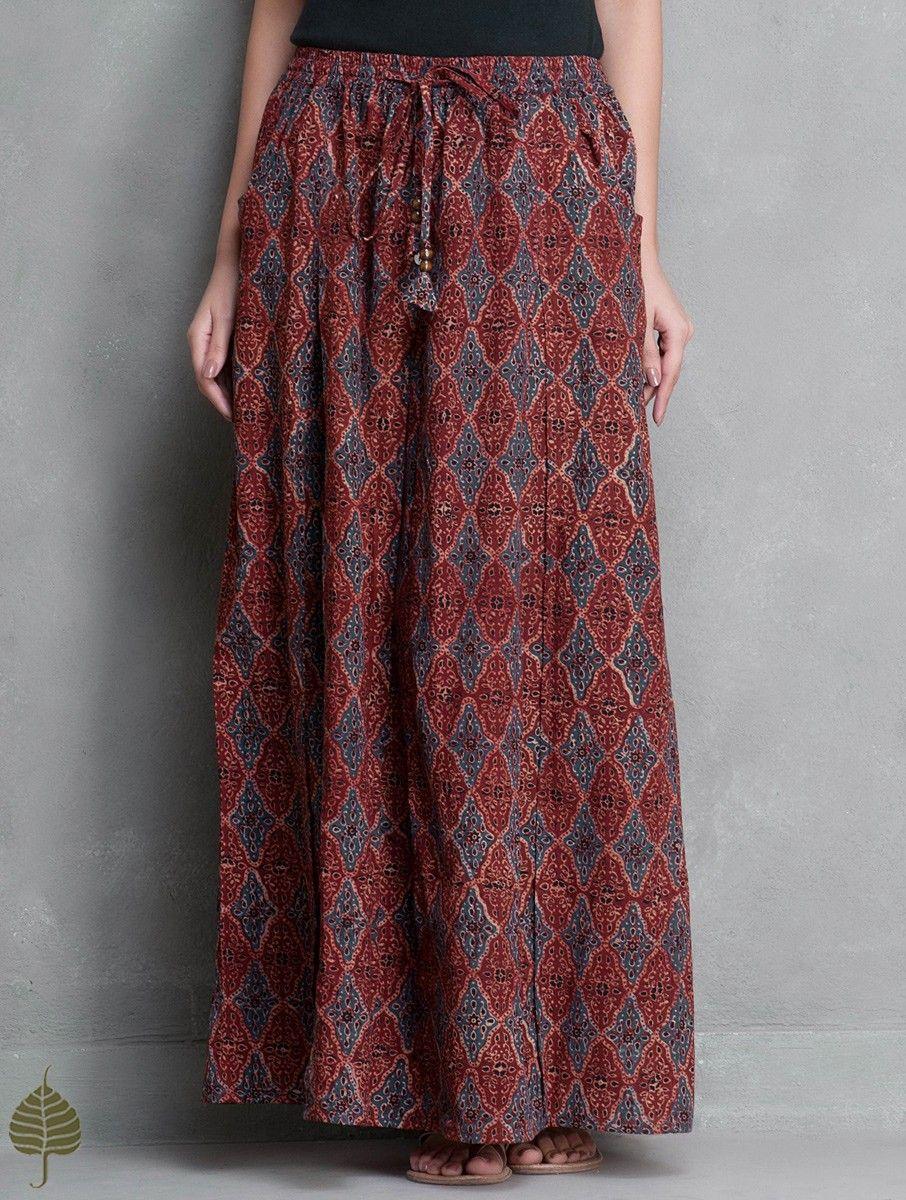 Dohra White-Black Jacquard Reversible Cotton Wrap around Skirt ...