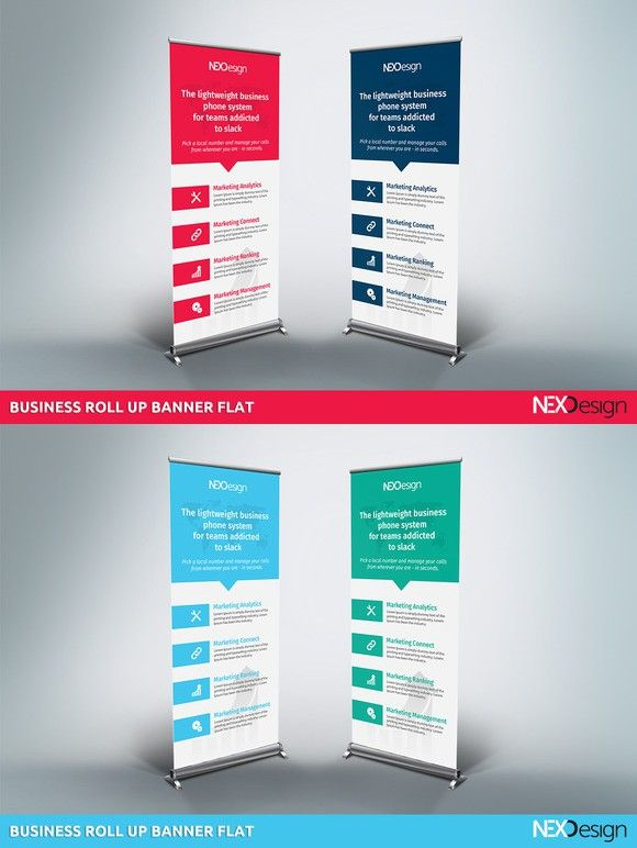 Roll up banner flat Presentation Templates Pinterest Banners - advertising timeline template