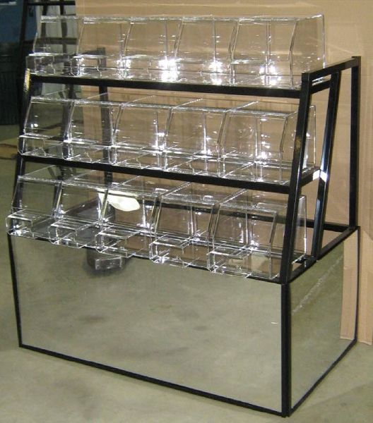 3 Tier Mirrored Candy Rack Retail Candy Rack Bulk Candy