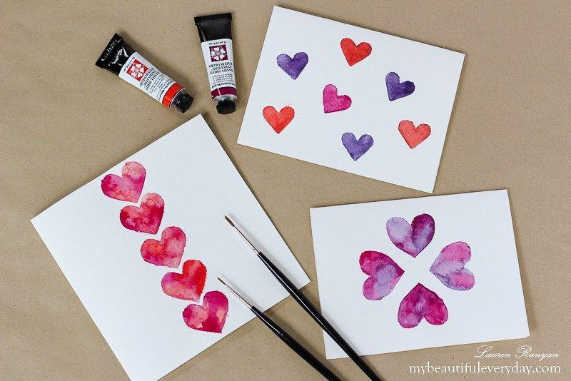 Easy Diy Watercolor Card Watercolor Cards Watercolor Projects