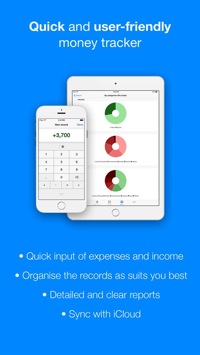 Filki - Expenses and income Finance Productivity iPhone App