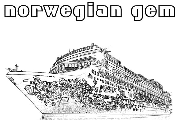 Norwegian Gem Cruise Ship Coloring Pages Netart Coloring Pages Disney Coloring Pages Cruise Ship