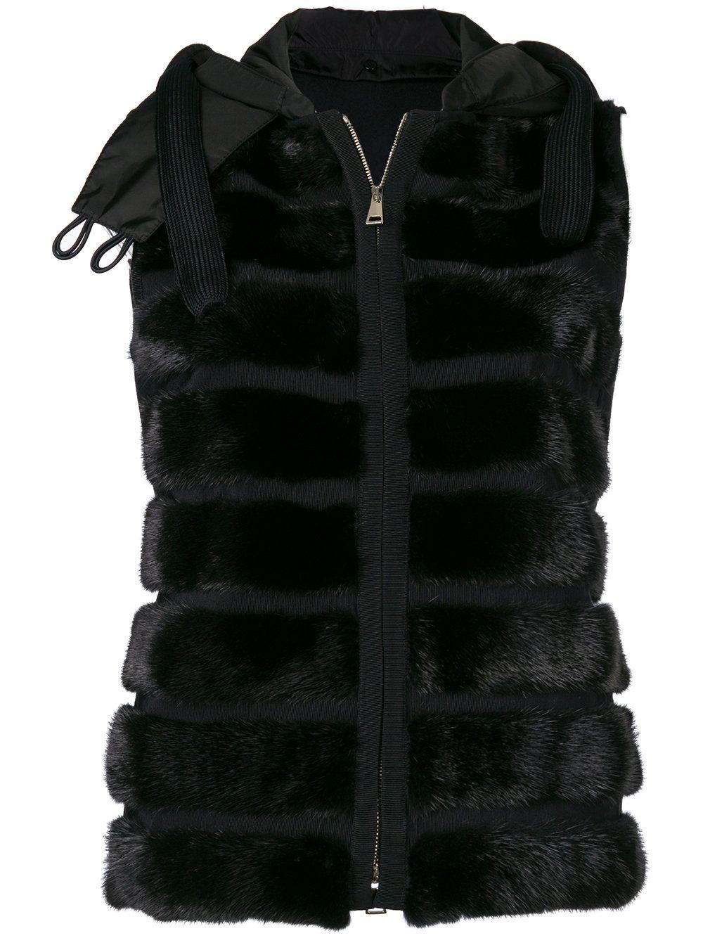 Moncler Hooded Gilet Jacket Black (с изображениями