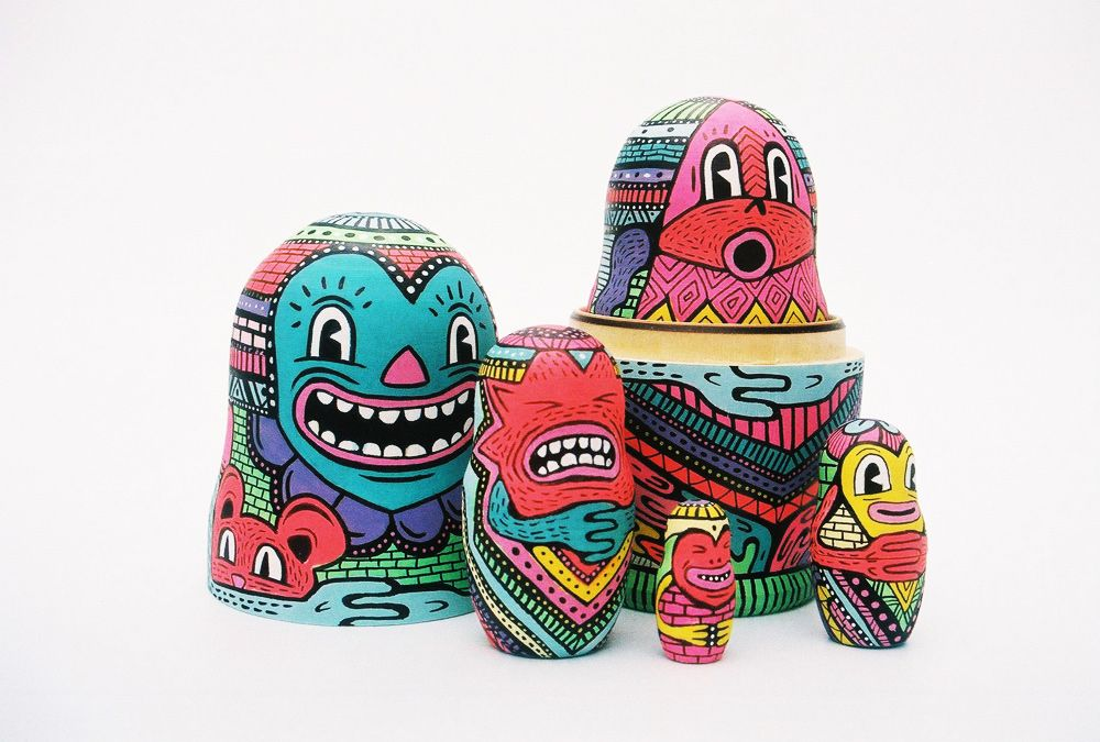 Russian Doll | Hattie Stewart | Illustrator, London...dolls which have been drawn on to show each individual is different