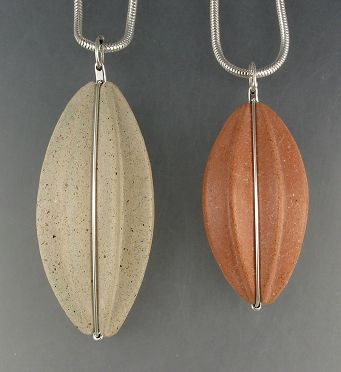 3 Fold concrete pendant necklaces  -Andrew Goss