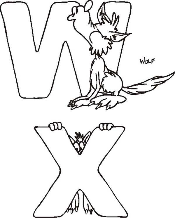 Letter W And Letter X Coloring Page Bulk Color Coloring Pages Lettering Letter W