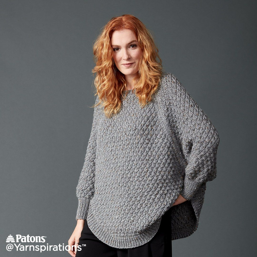 Great curves knit poncho free pattern yarnspirations patons great curves knit poncho free pattern yarnspirations bankloansurffo Gallery