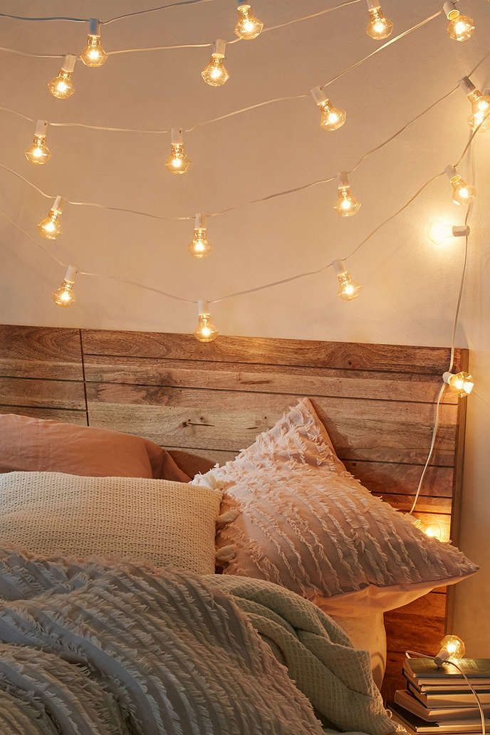 Faceted Bulb String Lights Apartment Bedroom Lighting