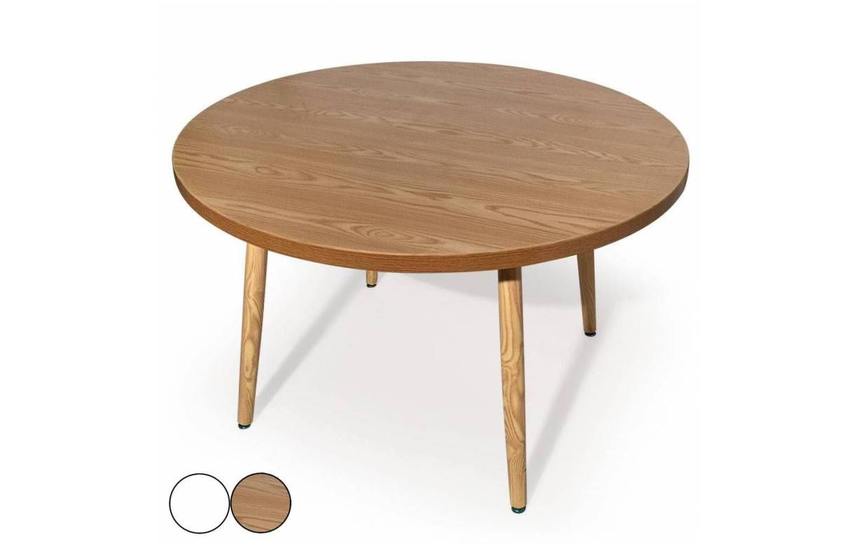 15 Expert Table Ronde Bois Blanc Collection