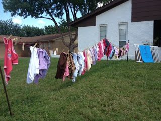 Garage Sale Ideas Hang Baby Clothes From A Diy