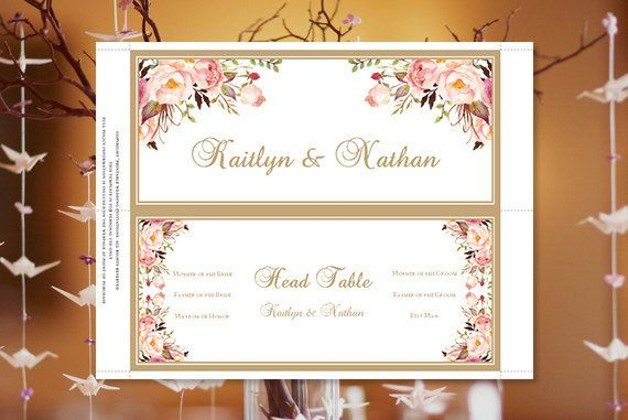 Wedding Seating Chart Romantic Blossoms Floral Table Sign