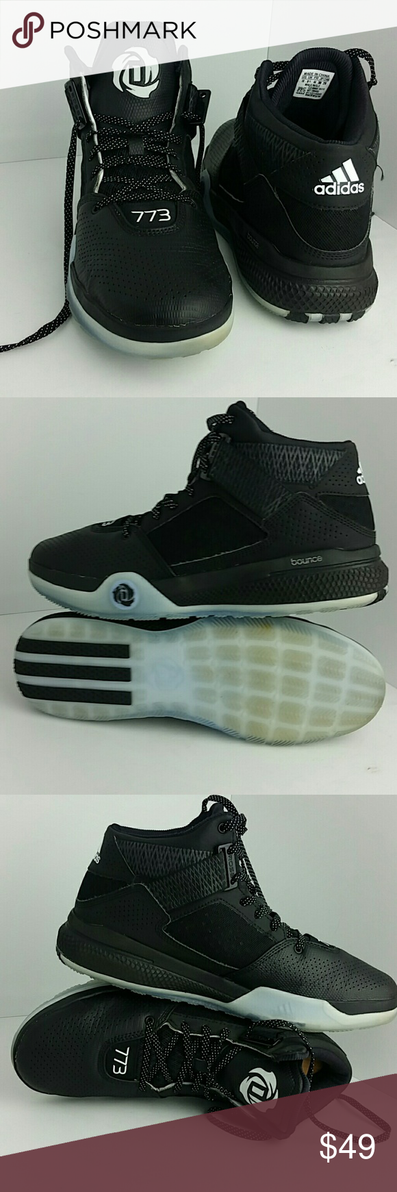 hot sale online d87d7 13210 ADIDAS D ROSS 773 MENS SHOES VERY CLEAN INSIDE-OUT SKE  KM5-PO ADIDAS  Shoes Athletic Shoes