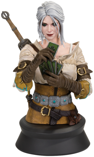 Ciri Playing Gwent Bust by Dark Horse Comics | Sideshow Collectibles