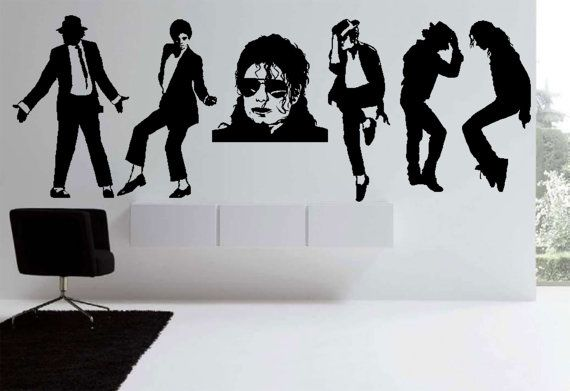 Micheal Jackson Wall Sticker Decal Art Transfer Graphic Stencil Removable nic8