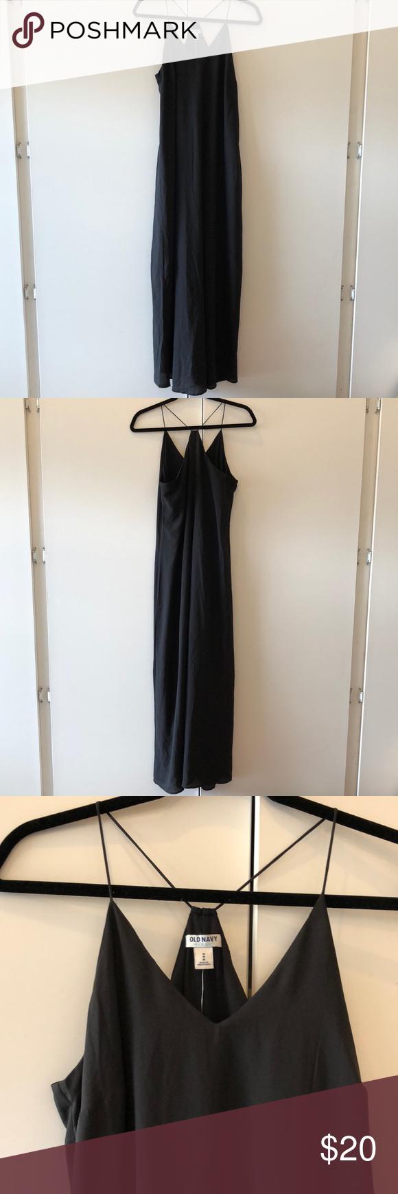 Old navy long dress sz m nwt my posh closet pinterest navy and