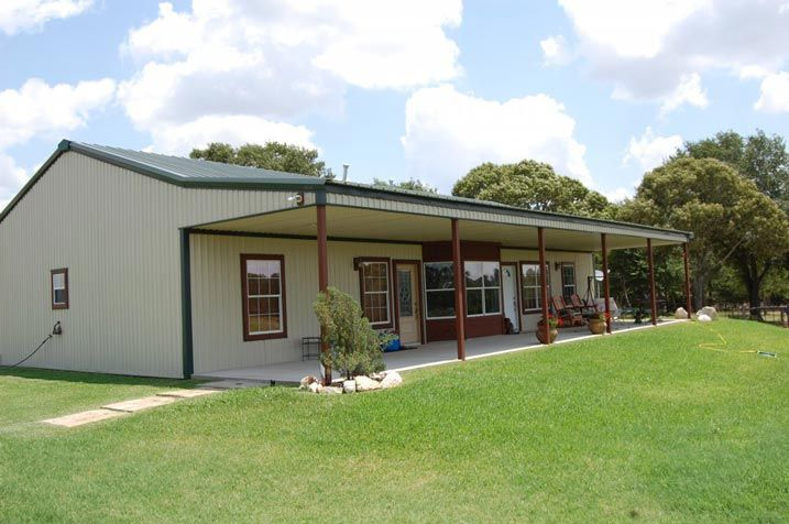 Simple Practical One Story Metal Building Home Hq Pictures