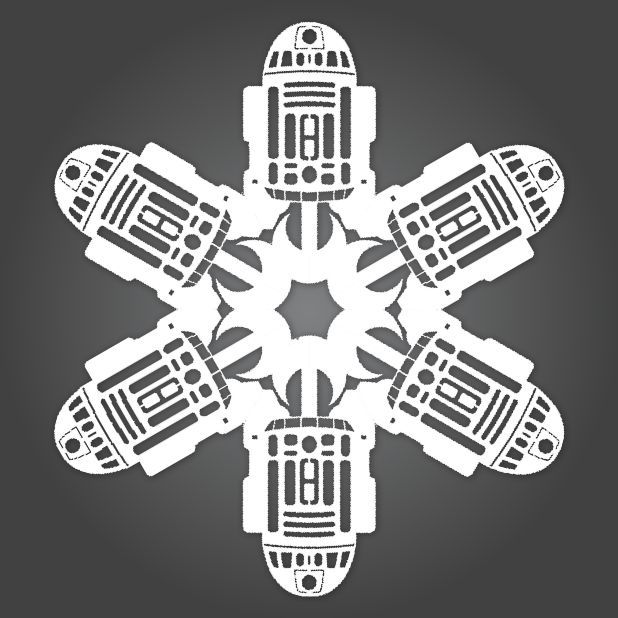 r2d2 snowflake template  R6-D6! Matters of Grey instructions for diy Star Wars ...